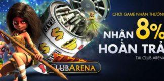 Nhận thưởng M88 khi chơi 3D Slot Club Arena