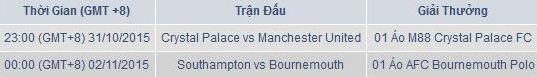 gui tien m88 du doan Crystal Palace FC - AFC Bournemouth 2