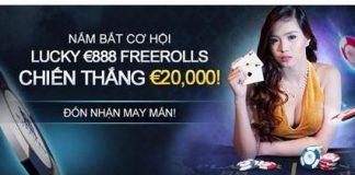 Lucky €888 Freerolls – Chiến thắng €20,000!