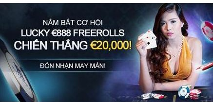 Lucky €888 Freerolls – Chiến thắng €20,000!