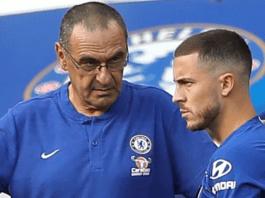 """Maurizio Sarri:"""" Tôi không lo lắng về việc Hazard chuyển đi"""""""