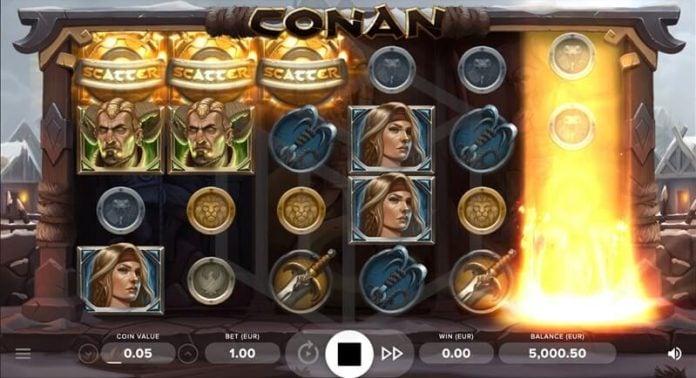 Conan: Máy đánh bạc mới của NetEnt