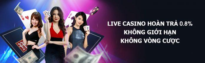 Chơi Casino trực tuyến, nhận hoàn trả hàng ngày 0,8%